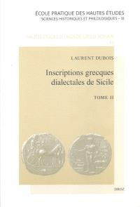 Inscriptions grecques dialectales de Sicile