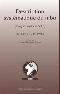 Description systématique du mbo : langue bantoue A.15