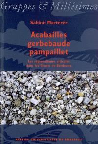 Acabailles, gerbebaude, pampaillet : les régionalismes viticoles dans les Graves de Bordeaux