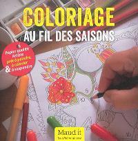 Coloriage au fil des saisons : papier qualité artiste prêt à peindre, à colorier & à suspendre