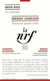 Nouvelle revue française. n° 619