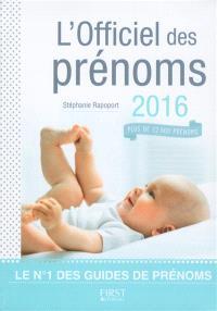 L'officiel des prénoms 2016 : plus de 12.000 prénoms