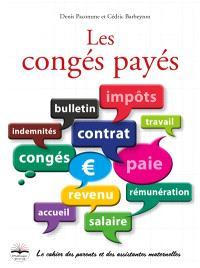 Les congés payés : le cahier des parents et des assistantes maternelles
