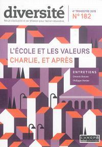 Diversité : ville, école, intégration. n° 182, L'école et les valeurs Charlie, et après