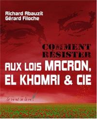 Comment résister aux lois Macron, El Khomri et Cie ? : adapter l'humain au travail ou le travail à l'humain ?