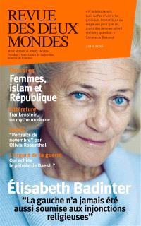Revue des deux mondes. n° 6 (2016), Femmes, islam et République