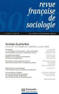 Revue française de sociologie. n° 57-4, Sociologie du péri-urbain