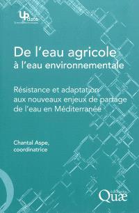 De l'eau agricole à l'eau environnementale : résistance et adaptation aux nouveaux enjeux de partage de l'eau en Méditerranée