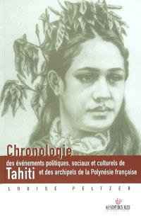 Chronologie des événements politiques, sociaux et culturels de Tahiti et des archipels de la Polynésie française