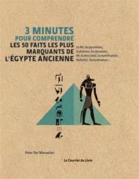 3 minutes pour comprendre les 50 faits les plus marquants de l'Egypte ancienne : le Nil, les pyramides, le pharaon, les dynasties, Rê, le dieu Soleil, la momification, Néfertiti, Toutankhamon...