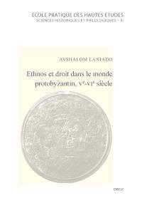 Ethnos et droit dans le monde protobyzantin, Ve-VIe siècle : fédérés, paysans et provinciaux à la lumière d'une scholie juridique de l'époque de Justinien