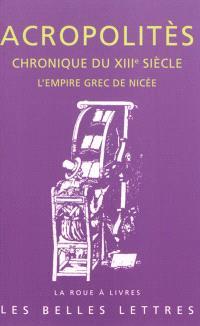 Chronique du XIIIe siècle : l'empire grec de Nicée