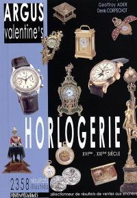 Argus Valentine's horlogerie : XVIe-XXIe siècle : 2.358 résultats illustrés