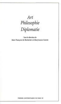 Art, philosophie, diplomatie