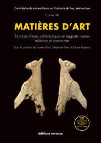 Matières d'art : représentations préhistoriques et supports osseux, relations et contraintes