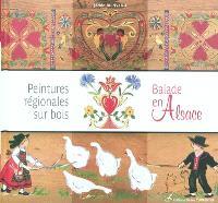 Peintures régionales sur bois : balade en Alsace