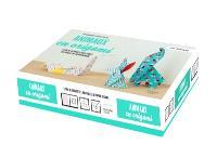 Animaux en origami : 1 livre de 20 projets anti-stress, 200 feuilles de papier origami
