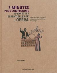 3 minutes pour comprendre 50 facettes essentielles de l'opéra : la partition, l'aria, l'orchestre, le choeur, le bel canto, le ténor, Verdi, Wagner...