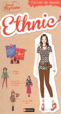 Jeune styliste : carnet de dessin, Ethnic