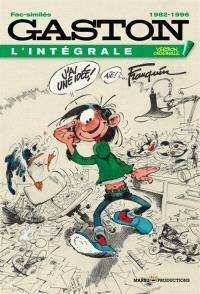 Gaston : l'intégrale. Volume 21, 1982-1996 : fac-similés