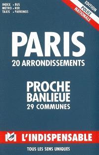 Paris, 20 arrondissements, R18 : proche banlieue, 29 communes