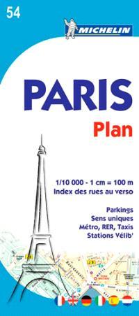 Paris : plan : index des rues au verso