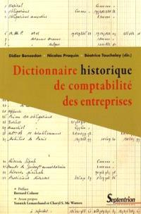 Dictionnaire historique de la comptabilité des entreprises