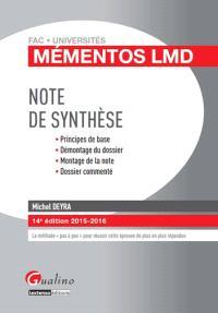 Note de synthèse