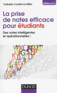 La prise de notes efficace pour étudiants : des notes intelligentes et opérationnelles !