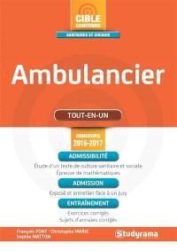Ambulancier : tout-en-un : concours 2016-2017