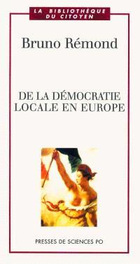 De la démocratie locale en Europe
