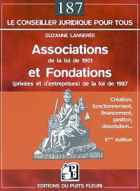 Associations de la loi de 1901 et fondations (privées et d'entreprises) de la loi de 1987 : création, fonctionnement, financement, gestion, dissolution...