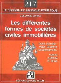 Les différentes formes de sociétés civiles immobilières : mode d'emploi, objet, structure, fonctionnement, cadres juridique et fiscal