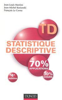 TD statistique descriptive : 70% applications, 30% cours