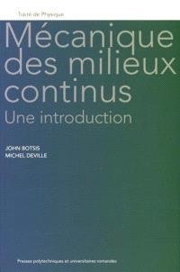 Mécanique des milieux continus : une introduction