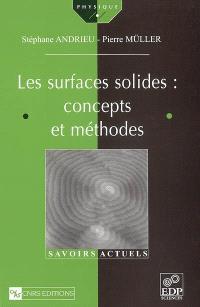 Les surfaces solides : concepts et méthodes