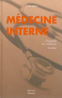 Médecine interne : checklists de médecine