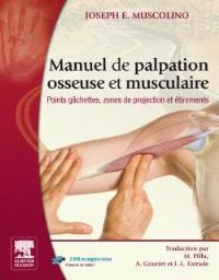 Manuel de palpation osseuse et musculaire : points gâchettes, zones de projection et étirements