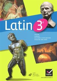 Latin 3e : manuel de l'élève