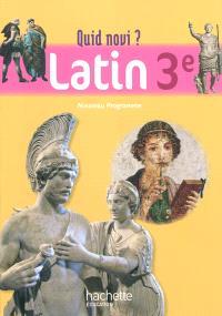 Latin, 3e : nouveau programme : livre de l'élève