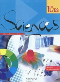 Sciences 1res L, ES : livre de l'élève
