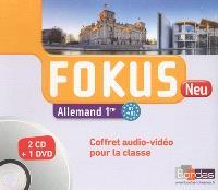 Fokus neu allemand 1ère, B1-B2 : coffret audio-vidéo pour la classe