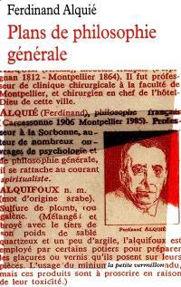 Plans de philosophie générale