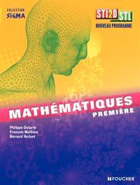 Mathématiques, 1re ST2SD-STL