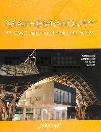 Mathématiques : 1re bac technologique STAV