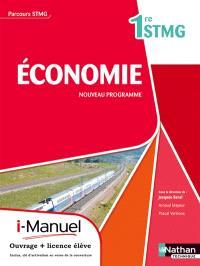 Economie, 1re STMG : nouveau programme : i-manuel, ouvrage + licence élève