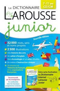Dictionnaire Larousse junior, 7-11 ans, CE-CM : avec carte d'activation