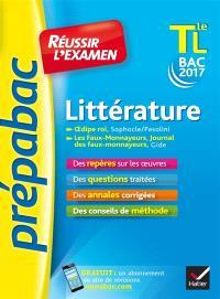 Littérature terminale L, bac 2017 : Oedipe roi (Sophocle, Pasolini), Les faux-monnayeurs, Journal des faux-monnayeurs (Gide)
