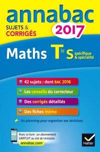 Maths terminale S, spécifique & spécialité : 2017