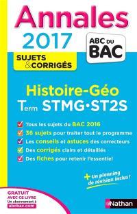 Histoire géo, terminale STMG, ST2S : annales 2017